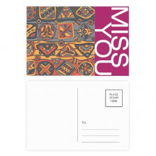 Africa Aboriginal Style Tribal Collage Drawing Miss Postcard Set Thanks Card Mailing Side 20pcs