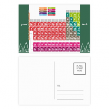 Cute Succinct Color Chemistry Periodic Table Good Luck Postcard Set Card Mailing Side 20pcs
