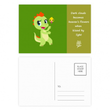 Dinosaur Kingdom Love You Poetry Postcard Set Thanks Card Mailing Side 20pcs