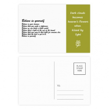 Famous Poetry Quote Believe In Yourself Poetry Postcard Set Thanks Card Mailing Side 20pcs