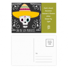 Hat Skull Mexico Happy The Day Of The Dead Poetry Postcard Set Thanks Card Mailing Side 20pcs