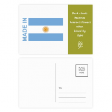 Made In Argentina Country Love Poetry Postcard Set Thanks Card Mailing Side 20pcs