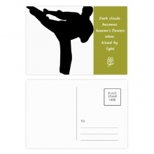 Shaolin Kung Fu Chinese Culture Pattern Poetry Postcard Set Thanks Card Mailing Side 20pcs