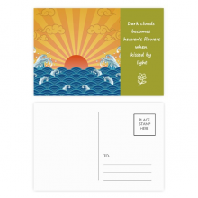 Sun Cloud Sea Water Weather Pattern Poetry Postcard Set Thanks Card Mailing Side 20pcs