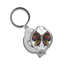 Beautiful Butterfly Colorful Decorative Wings Finger Nail Clippers Scissor Stainless Steel Cutter