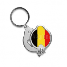 Belgium Country Flag Name Finger Nail Clippers Scissor Stainless Steel Cutter