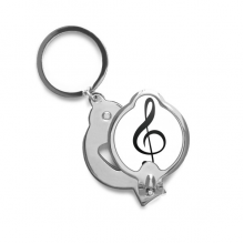 Black Music Treble Clef White Fingernail Cutter Trimmer