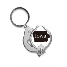 Iowa America USA Map Silhouette Fingernail Cutter Trimmer