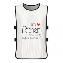 I'm a Father What's your Superpower White Training Vest Jerseys Shirt Cloth