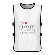 I'm a Grandpa What's your Superpower= White Training Vest Jerseys Shirt Cloth