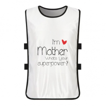 I'm a Mother What's your Superpower White Training Vest Jerseys Shirt Cloth