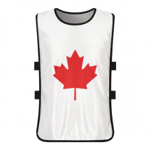 Red Maple Leaf Canada Country Culture Symbol White Training Vest Jerseys Shirt Cloth