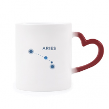 Aries Constellation Sign Zodiac Morphing Mug Heat Sensitive Red Heart Cup