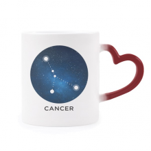 Cancer Constellation Zodiac Sign Morphing Mug Heat Sensitive Red Heart Cup