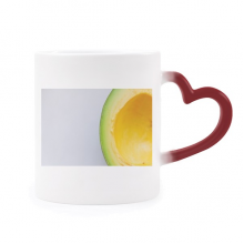 Fresh Tropical Fruit Avocado Picture Morphing Mug Heat Sensitive Red Heart Cup