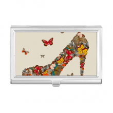 Butterfly and High Heel Shoes Business Card Holder Case Wallet