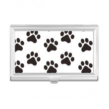 Cat Animal Cute Paw Print Silhouette Footprint Business Card Holder Case Wallet