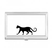 Charming Black Cat Lover Animal Art Silhouette Business Card Holder Case Wallet