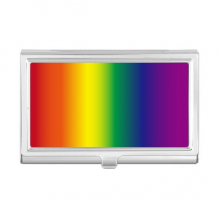 Gradient LGBT Rainbow Homo Business Card Holder Case Wallet