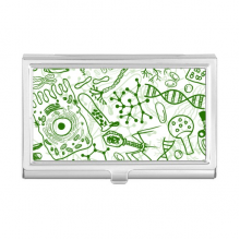 Green Microscope Cells Structure Biological Business Card Holder Case Wallet