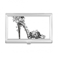 High Heels Shoes Flower Butterfly Pattern Business Card Holder Case Wallet