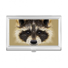 Little Mischievous Brown Raccoon Animal Business Card Holder Case Wallet