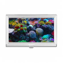 Ocean Colorful Coral Science Nature Picture Business Card Holder Case Wallet