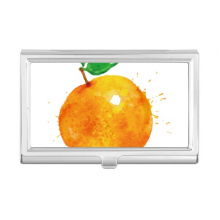 Orange Fruit Watercolor Illustration Pattern Business Card Holder Case Wallet
