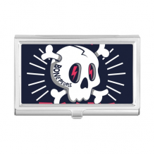 Skate Board Indian Skeleton Sacrifice Totem Business Card Holder Case Wallet