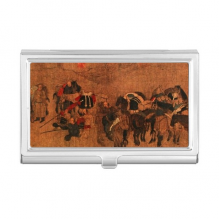 Tea Horse Road Chinese Painting Silk Road Business Card Holder Case Wallet