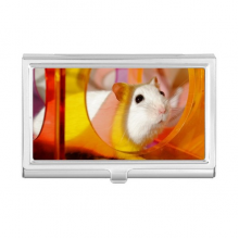 White Rat Animal Pet Game Toys Business Card Holder Case Wallet