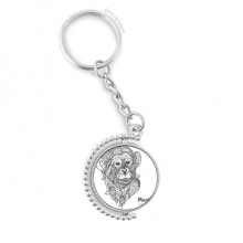 Animal Big Mouth Picture Monkey Rotatable Key Chain Ring Keyholder