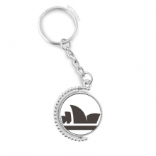 Australia City Landmark Sydney Opera House Rotatable Key Chain Ring Keyholder