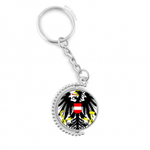 Austria National Emblem Country Rotatable Key Chain Ring Keyholder