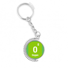 Oxygen Chemical Element Science Rotatable Key Chain Ring Keyholder