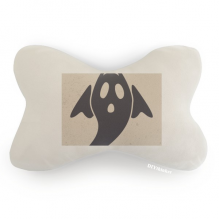 A Winged Halloween Ghost Car Trim Neck Decoration Pillow Headrest Cushion Pad