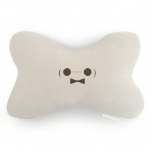 Lovely Face Figure Baymax Car Neck Pillow Headrest Support Cushion Pad
