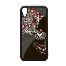 African Black Women Aboriginal Headdress for iPhone XR Case for Apple Cover Phone Protection