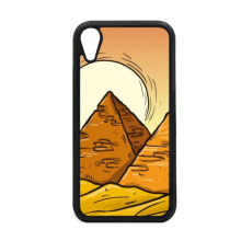 Ancient Egypt Pyramid Sun Pattern for iPhone XR Case for Apple Cover Phone Protection