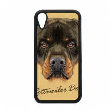 Black Ferocious Rottweiler Dog Pet Animal for iPhone XR Case for Apple Cover Phone Protection