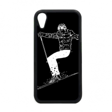 Black Winter Sport Skiing Pattern iPhone XR iPhonecase Cover Apple Phone Case
