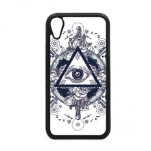 Eye Flower Triangle Art Pattern for iPhone XR iPhonecase Cover Apple Phone Case