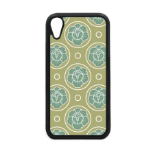 Green Cabbage Decorative Pattern Plants iPhone XR iPhonecase Cover Apple Phone Case