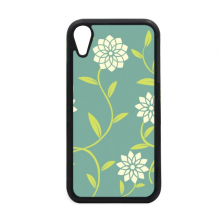 Green White Flowers Decorative Pattern iPhone XR iPhonecase Cover Apple Phone Case