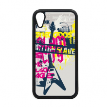 Guitar Pink Yellow Music Instrument Pattern iPhone XR iPhonecase Cover Apple Phone Case