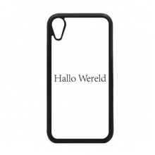 Hello World Dutch iPhone XR iPhonecase Cover Apple Phone Case