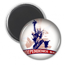 Statue Of Liberty Independant Day America Circle Refrigerator Magnet Badge 3pcs