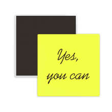 Yes You Can Inspirational Quote Sayings Square Ceramics Fridge Magnet 2pcs