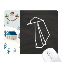 Abstract Origami Penguin Geometric Shape Santa Claus House Mouse Pad Gift