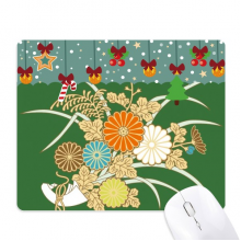 Autumn Japanese Yellow Flower Mouse Pad Game Office Mat Christmas Rubber Pad